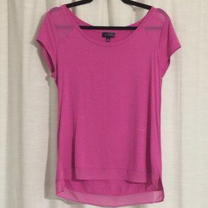 Limited Pink Top - Shear Accents - M